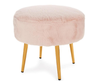 Fabulous Details About Stool Round Bunny Pink Or White Faux Sheepskin Sitting Lush Fur New Pabps2019 Chair Design Images Pabps2019Com