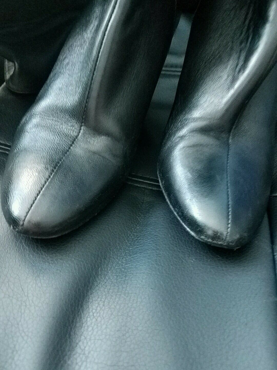 Saks fifth avenue leather boots wedge 6.5           270 5974fb