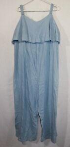 280ad472d10 Isabel Maternity Denim Jumpsuit Woman s Size 2XL Color Blue Light ...