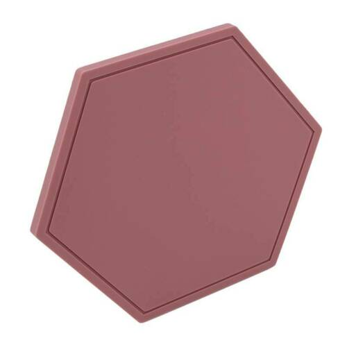 Hexagon Shape Silicone Antislip Heat Resistance Cup Bowl Insulation Pad Mat S