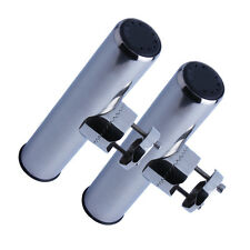 2PCS Stainless Steel Clamp-on Fishing Rod Holder for Rails 7/8'' to 1'' US STOCK