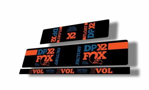 FOX Float DPX2 Rear Shock Suspension Sticker Factory Decal Adhesive Blue Orange