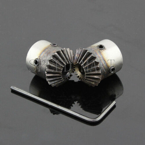 2 x 1M-20T Metal Umbrella Tooth Bevel Gear Helical Motor Gear 20 Tooth 6mm Bore