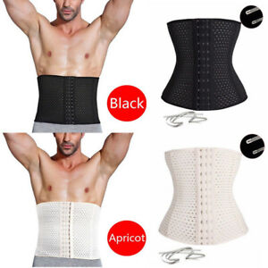 79e0d5cdc7 Image is loading Men-Waist-Trainer-Cincher-Tummy-Girdle-Belt-Slimming-