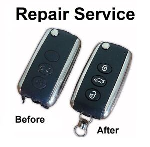 For Bentley Continental GT Flying Spur 3 button remote key Repair Refurbishsment