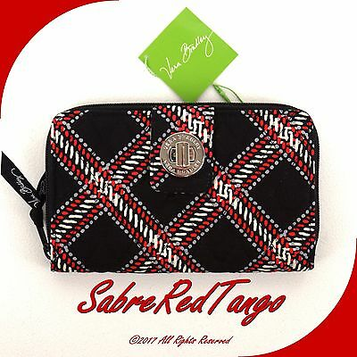 NWT VERA BRADLEY QUILTED TURN LOCK WALLET MINSK PLAID