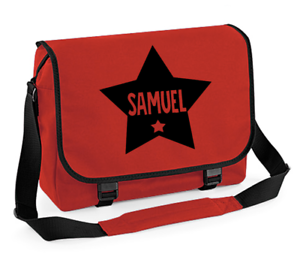 Personalised Star Messenger Bag Back to School Bag Kids Shoulder Bags Boys Bags