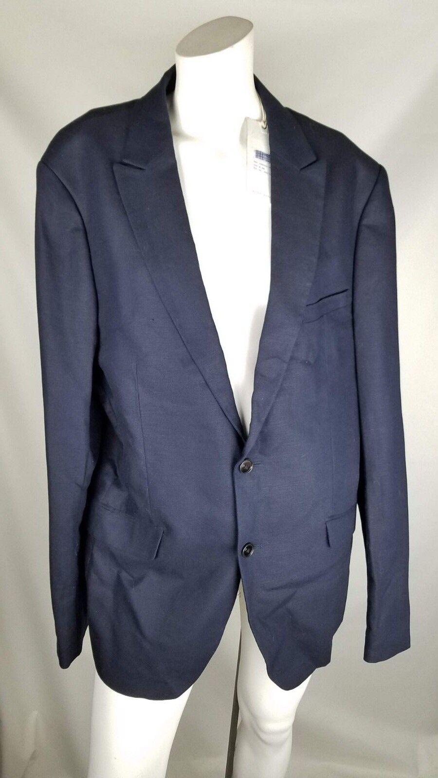 Scotch and Soda mens blazer size 2x 54 bluee NWT msrp  cotton linen