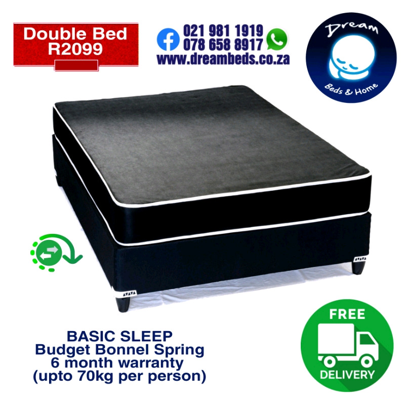 Three Quarter Beds and Mattresses from R1899 with FREE DELIVERY!