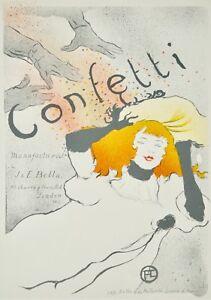 fe58fe2f0f3 Henri de TOULOUSE-LAUTREC - Lithographie monogrammée - Confetti