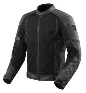 Rev-039-it-Torque-Jacket-Men-039-s-Black-Grey-Waterproof-Textile-Motorcycle-Jacket-New