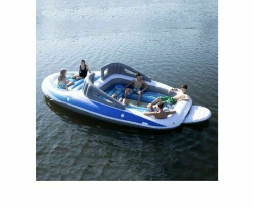Sun Pleasure Inflatable 6 Person Bay Breeze Party Boat-Float-Lounge #21510 NIB