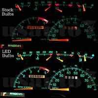 Dash Cluster Gauge White Led Light Kit Fits 90-94 Chevy Gmc Suburban Non Digital