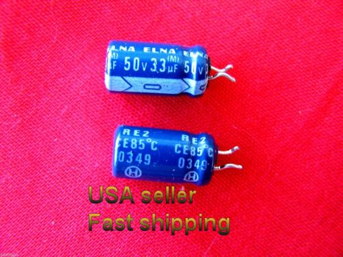 33uf 50v   radial  electrolytic capacitors 25 pc