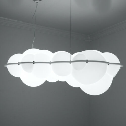 Modern White Cloud Chandelier Cotton LED Pendant Lamp Floating Suspension Light