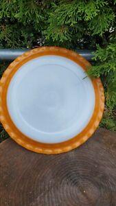 Vintage Pyrex Agee Crownware Ruffled Tangerine Orange Pie Plate Dish Australia