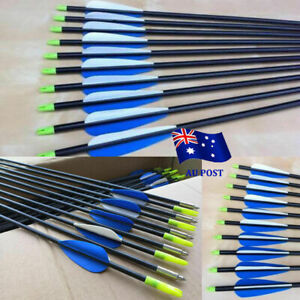 "12x 30/"" Archery Fiberglass Arrows OD 6mm SP700 For Recurve Bow Target Hunting"