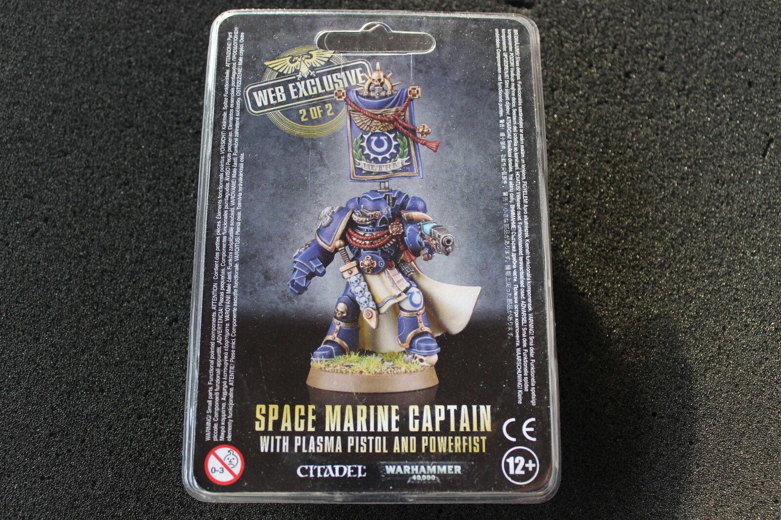 Games Workshop Warhammer 40k Space Marines Captain Web Exclusive BNIB Limited 2