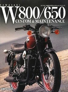 Image Is Loading Kawasaki W800 650 Japanese Custom Amp Maintenance Book