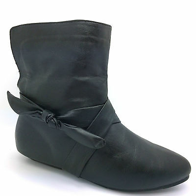 Nuevo Para Mujer Damas bajo plano Botines tirar de Stretch Chelsea Riding Zapato fb506