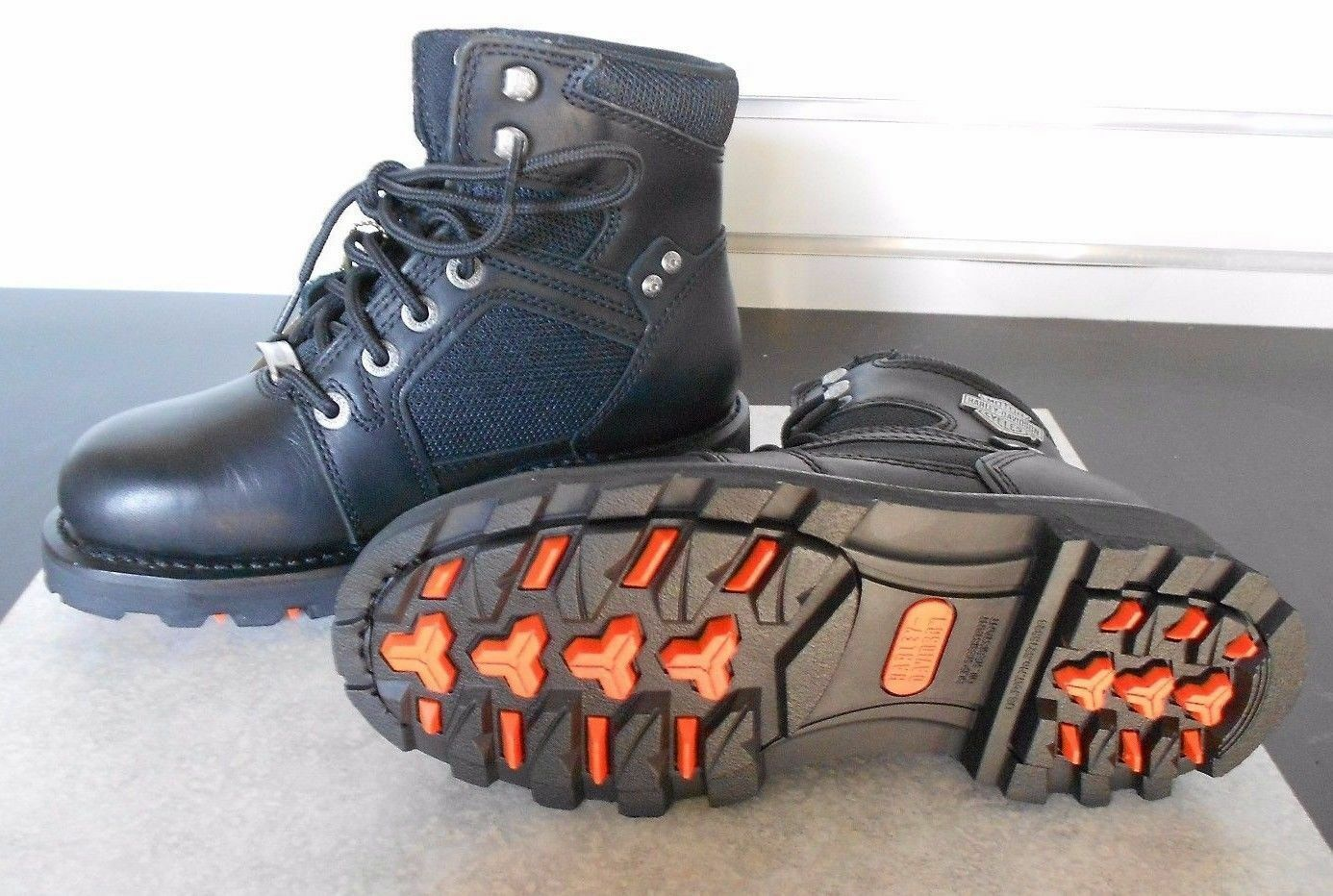 Harley Davidson Women's Radbourne Reflective Black Leather Low Cut Boot D87108