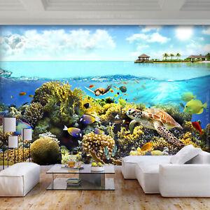 Bevorzugt VLIES FOTOTAPETE Korallenriff Fisch Tiere TAPETEN Kinderzimmer LW54