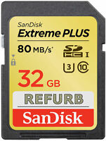 SanDisk 32GB SDHC Extreme PLUS SD 32 GB memory card class 10 80MB/s SDSDXS-032G