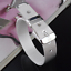 Fashion-925-Silver-Plated-Charm-Bangle-Cuff-Bracelet-Men-Women-Jewelry-Wristband thumbnail 5