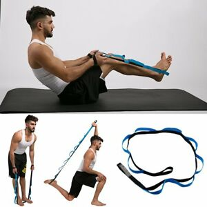 Multi-use-Gym-Fitness-Yoga-Aids-Belt-Exercise-Stretch-Out-Strap-Resistance-Bands