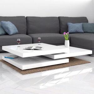 Tavolino da salotto moderno tavolino bianco lucido con movimenti a ...