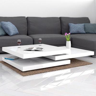 Tavolino Da Salotto Moderno Prezzi.Tavolino Da Salotto Moderno Tavolino Bianco Lucido Con Movimenti A Scomparsa Ebay