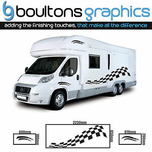 Details about MOTORHOME Stripes - Camper RV Decals Van Horsebox Caravan  Sticker Graphic CB1