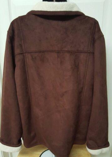 Størrelse 14 Feel Alfred Dunner Color Multi Kvinders Jacket Suede Down Button axzaSqnvw