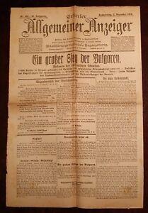 Erfurter-Allgemeiner-Indicador-2-Diciembre-1915-Historico-Diario-1-Weltkrieg