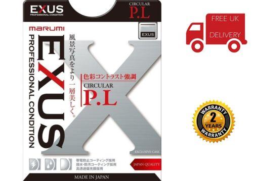 Reino Unido stock Filtro Polarizador Circular 49mm Exus Marumi EXS49CIR