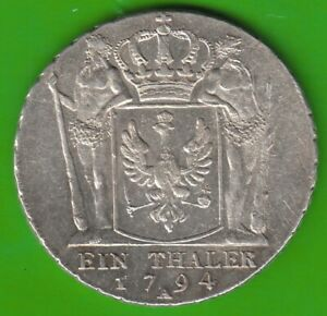 Prussia Thaler 1794 A Better Than XF Very Nice nswleipzig