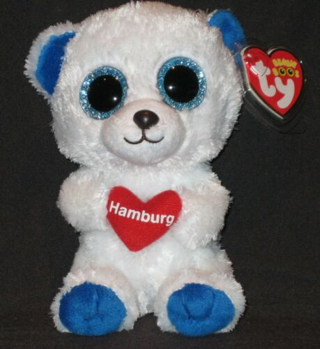 TY BEANIE BOOS HAMBURG the BEAR MINT with MINT TAGS GERMANY EXCLUSIVE