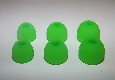Replacement silicone earbud replacement tips for 50 types 9 PAIRS  Green