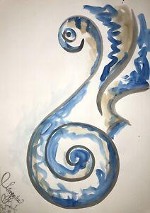 Margarita Bonke Malerei PAINTING erotic EROTIK FRAU WOMEN akt nu art blau blue 0