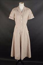 VTG WWII Women's Army Dress 1940s 40s #1349 WAC WAAC WW2 US Army Cotton