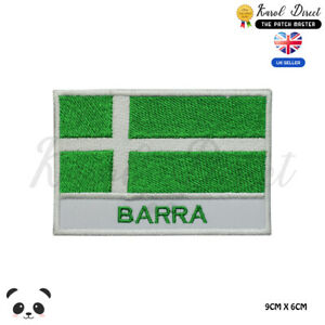 BARRA-Scotland-County-Flag-With-Name-Embroidered-Iron-On-Sew-On-Patch-Badge