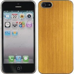 Custodia-Rigida-Apple-iPhone-5-5s-SE-metallico-oro-pellicola-protettiva