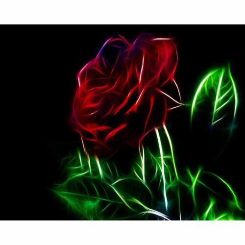 Diamond Painting Red Rose Abstract Design Embroidery Lovely DIY House Decoration