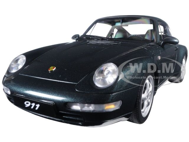 1995 Porsche Carrera 911 993 verde Metálico 1 18 Diecast Modelo De Autoart 78134