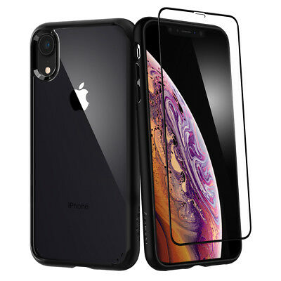 iPhone XR | Spigen® [Ultra Hybrid 360] Bumper Shockproof Case + Screen Protector