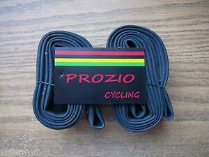 Bicycle Tubes (2 Qty) 26 x 2.125 Prozio 32mm Threaded Presta Valve Tube