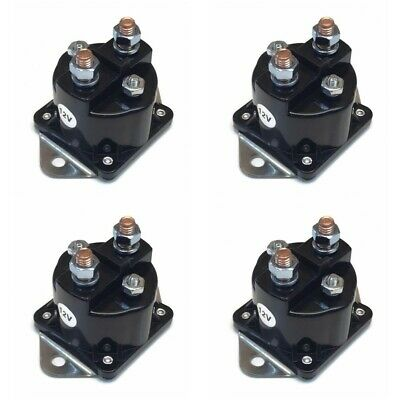 FOUR NEW WINCH SOLENOIDS 4-Terminal for WARN 72631 28396 Solenoid Relay