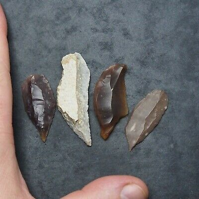 4x Prehistory Lithic Tools Weapons Darts Various Neolithic ...