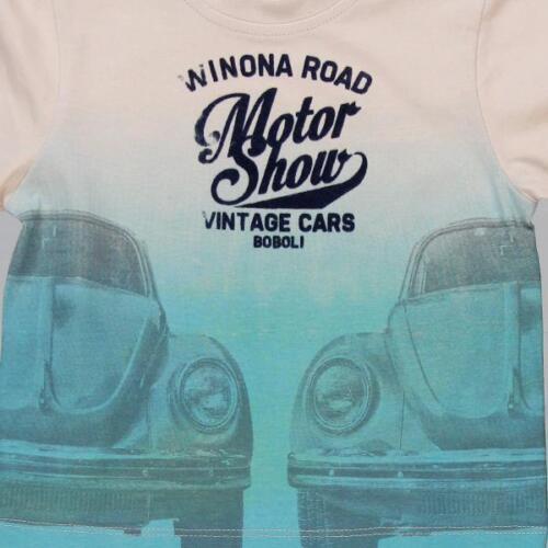 Nouveau Garçons Boboli Shirt Pull avec voitures Moteur-Show 324054 Taille 80 86 92 98 104