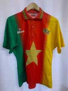CAMEROON NATIONAL TEAM 1994 HOME FOOTBALL SHIRT JERSEY VINTAGE SIZE 38/40 MITRE